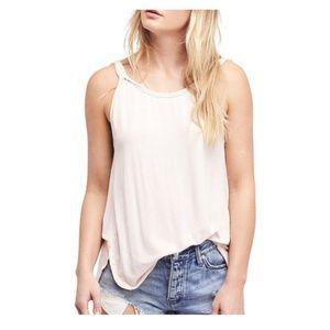 Free People We The Free Open-Back Tank Top White